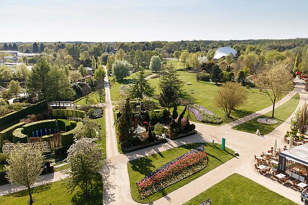 Luftaufnahme vom Park der Gärten in Bad Zwischenahn