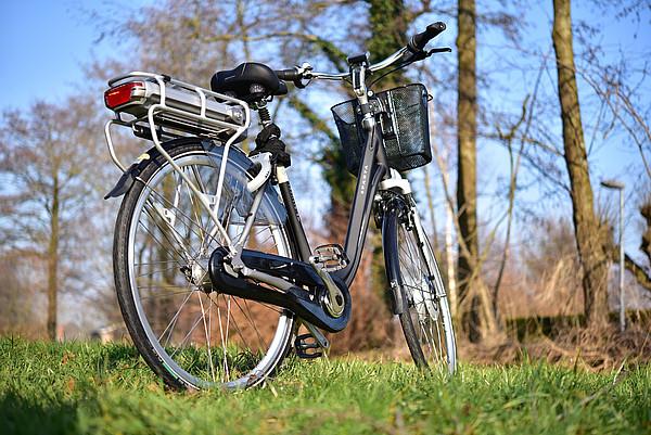 Ein E-Bike in der Westersteder Natur
